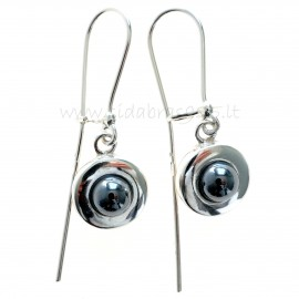Earrings with Hematite A725