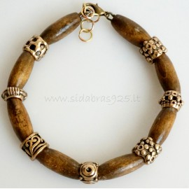 Bronze bracelet with Indian tree