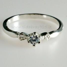 Žiedas su Cirkoniu Sužadėtuvių Ž732