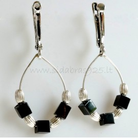 "Earrings ""Hematite necklace"""