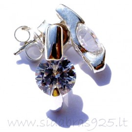 "Earrings with Zirconia ""Žėrutis"""