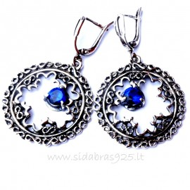 Earrings with Zirconia A577