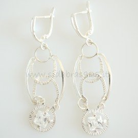 Earrings with Zirconia A411