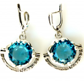 Earrings with Zirconia A341