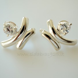 Earrings with Zirconia A203
