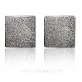 Cерьги минимализм «Серебряный квадрат»