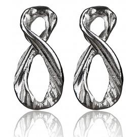 "Earrings ""Minimalist Infinity Symbols"" A744"