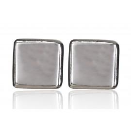 """Auskarai balti arba juodi matiniai - minimalistinė kolekcija """"Kvadratas"""""""