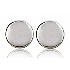 "Earrings white or black matt - minimalist collection ""Round"""