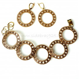 "Bronze jewellery set ""Success Wheels"""