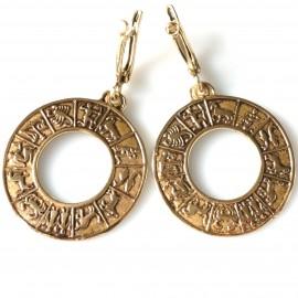 "Bronze earrings ""Visi Zodiakai A727"""