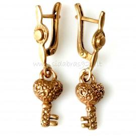 "Bronze earrings BA ""Rakteliai"""