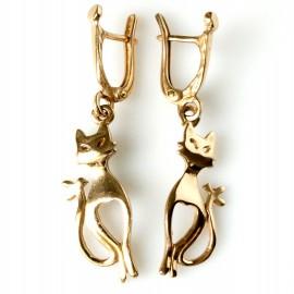 """Bronze earrings BA269 """"Cats"""""""
