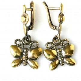 """Brass earrings ŽA529 """"Butterflies"""""""