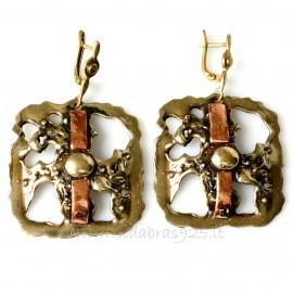 Brass earrings vario gryno juostele ŽA