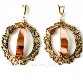 Brass earrings su variu ŽA