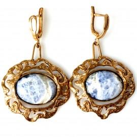 Bronze earrings BA286 Sodalitu