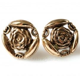 "Bronze earrings BA705 ""Rose"""