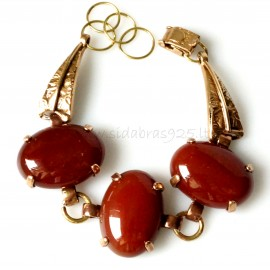 Bronze bracelet with Carnelian BAP