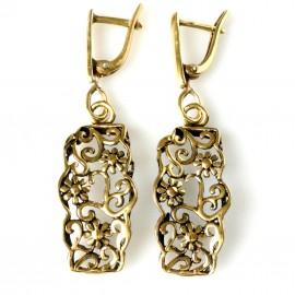 Brass earrings ŽA756