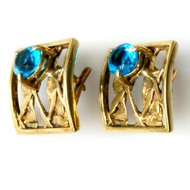 Brass earrings with Zirconium ŽA070