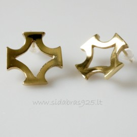 "Brass earrings ŽA ""Baltiška žvaigždė"""