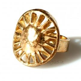 """Bronzinis žiedas """"Saulė"""" BŽ042"""