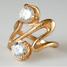 Bronze ring Cirkoniu B090Ž