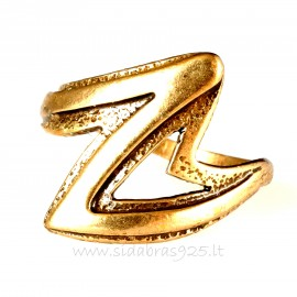 "Bronzins žiedas BŽ ""Žaibas"""