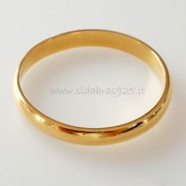 Auksuotas vestuvinis žiedas ŽAuAg 2,6