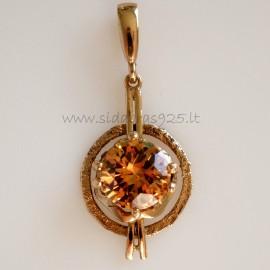 Bronze pendant su šampaniniu Cirkoniu BP342