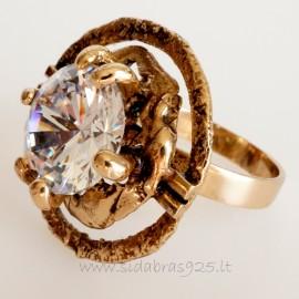 Кольцо из бронзы с 12мм цирконием ŽŽ469