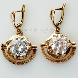 Brass earrings с 12 мм циркония ŽA341
