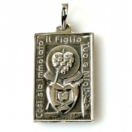 "Pendant religious medallion ""Two Hearts"" P753"