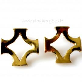 """Brass earrings ŽA """"Baltiška žvaigždė"""""""