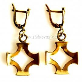 """Brass earrings ŽA """"Baltiška simbolika """""""