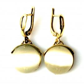 """Brass earrings """"Burbuliukų žiedas"""" ŽA602"""