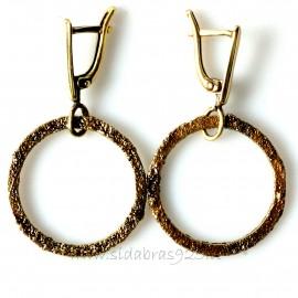 Brass earrings ŽA Ratas