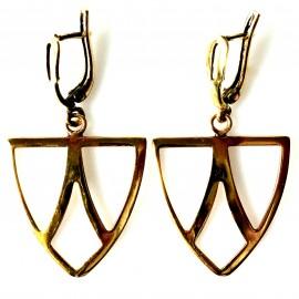 """Brass earrings ŽA""""Trys trikampiai"""""""