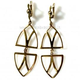 """Brass earrings ŽA """"6 trikampiai"""""""