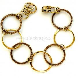 "Brass bracelet ""Ratas"" ŽAp"