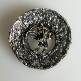 Pendant or medal with Angel, blackened