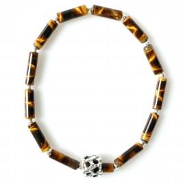 Браслет с натуральным тигровым камнем
