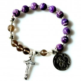 Rosaries on hand with Charoit and Smoky Quartz