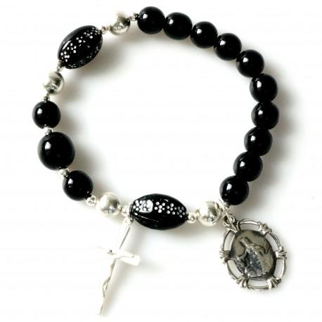 Розарий браслет с медальоном и крестом