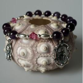 Rosaries - bracelet with Swarovski and Amethyst