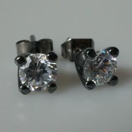 Earrings black with Zirconium A253