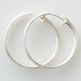 Серьги-кольца конго большие матовые, блестящие ADAR