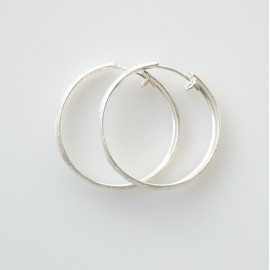 Earrings Hoop small matte, shiny ADAR