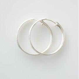 Серьги-кольца конго маленькие матовые, блестящие ADAR